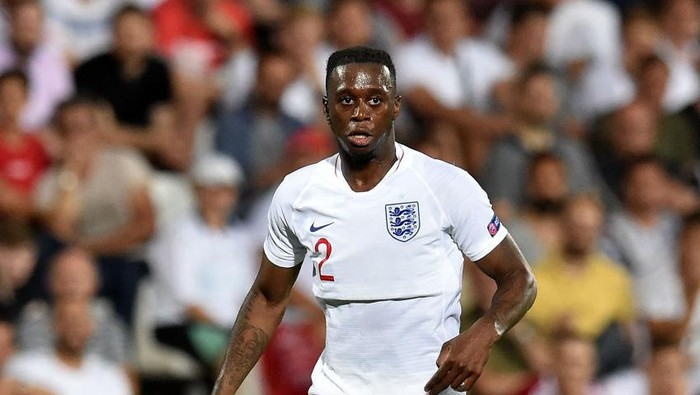 CESENA, ITALY - JUNE 18: Aaron Wan-Bissaka of England in action during the 2019 UEFA U-21 Championship Group C match between England and France at Dino Manuzzi Stadium on June 18, 2019 in Cesena, Italy.  (Photo by Giuseppe Bellini/Getty Images)