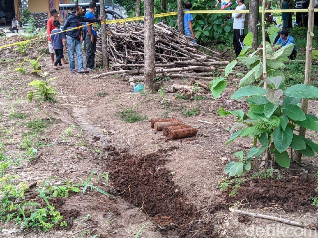 8 Mortir Ditemukan Terpendam Tanah di Ladang Jagung Ponorogo