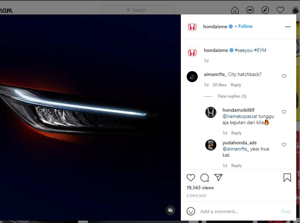 Honda City Hatchback Segera Meluncur di RI