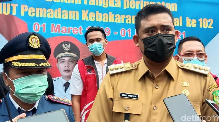 Wali Kota Medan Bobby Nasution di Lapangan Merdeka Medan