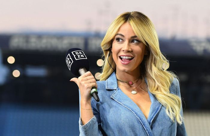 FERRARA, ITALY - JULY 16: Diletta Leotta of DAZN before the Serie A match between SPAL and FC Internazionale at Stadio Paolo Mazza on July 16, 2020 in Ferrara, Italy. (Photo by Alessandro Sabattini/Getty Images)