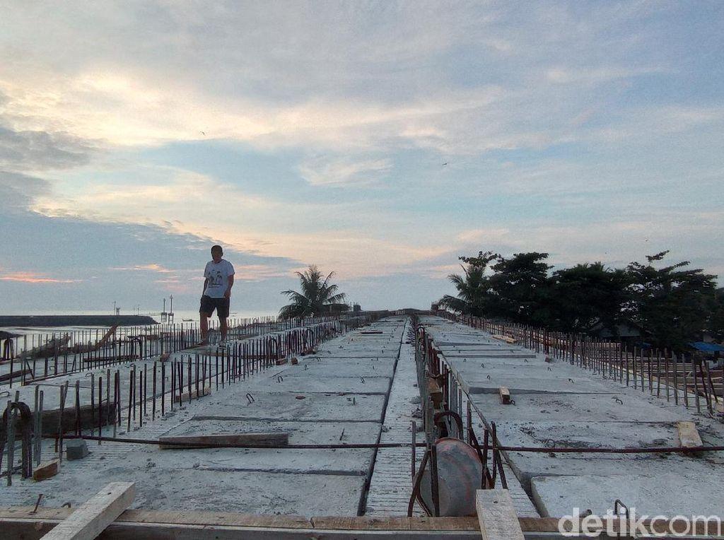 Pembangunan Jembatan Cikidang Pangandaran Mangkrak