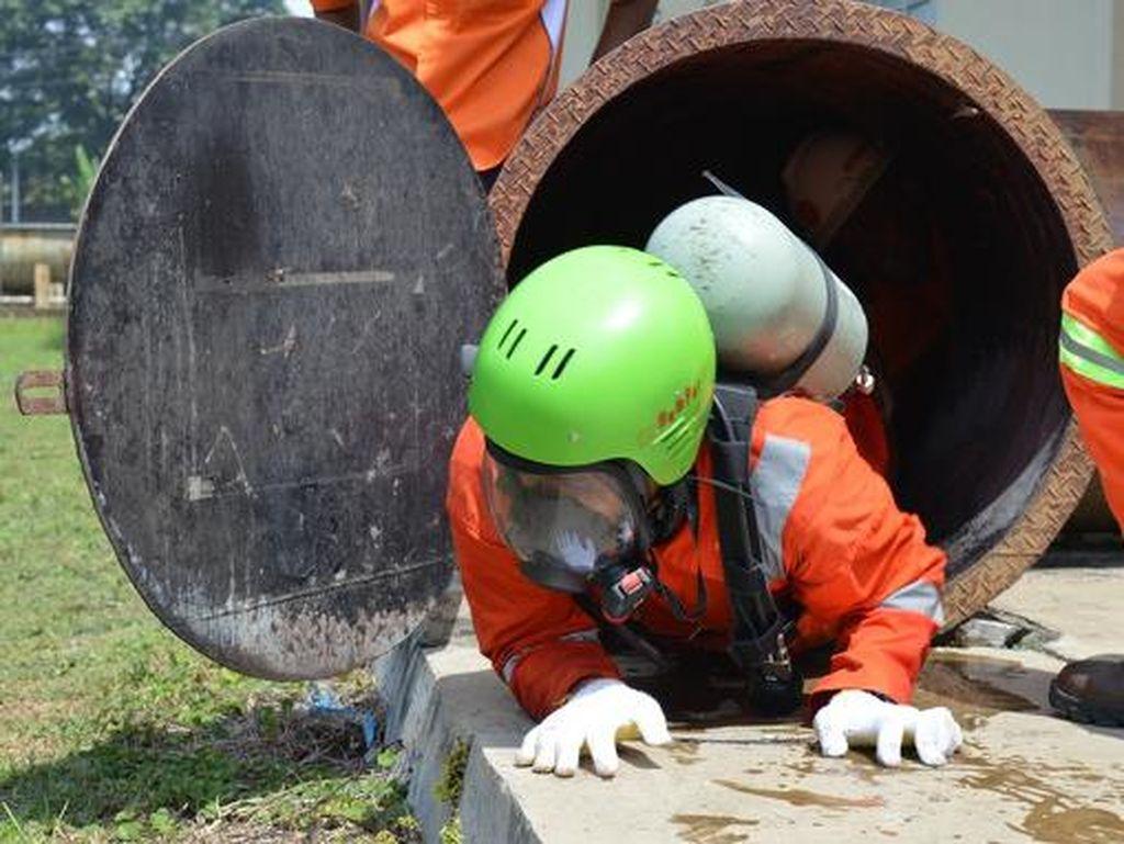 Risiko Kerja Tinggi, Pekerja PDSI Ikut Pelatihan K3 di PPSDM Migas
