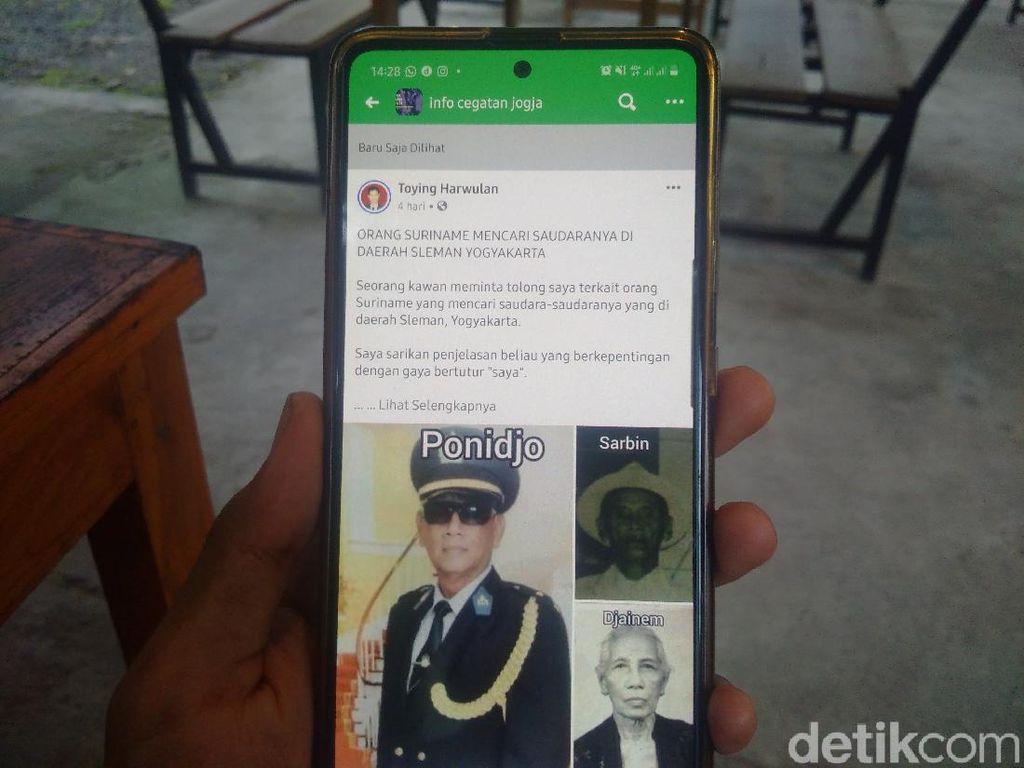 Tolong Bantu Lur! Pensiunan Polisi Suriname Ini Cari Saudaranya di Sleman