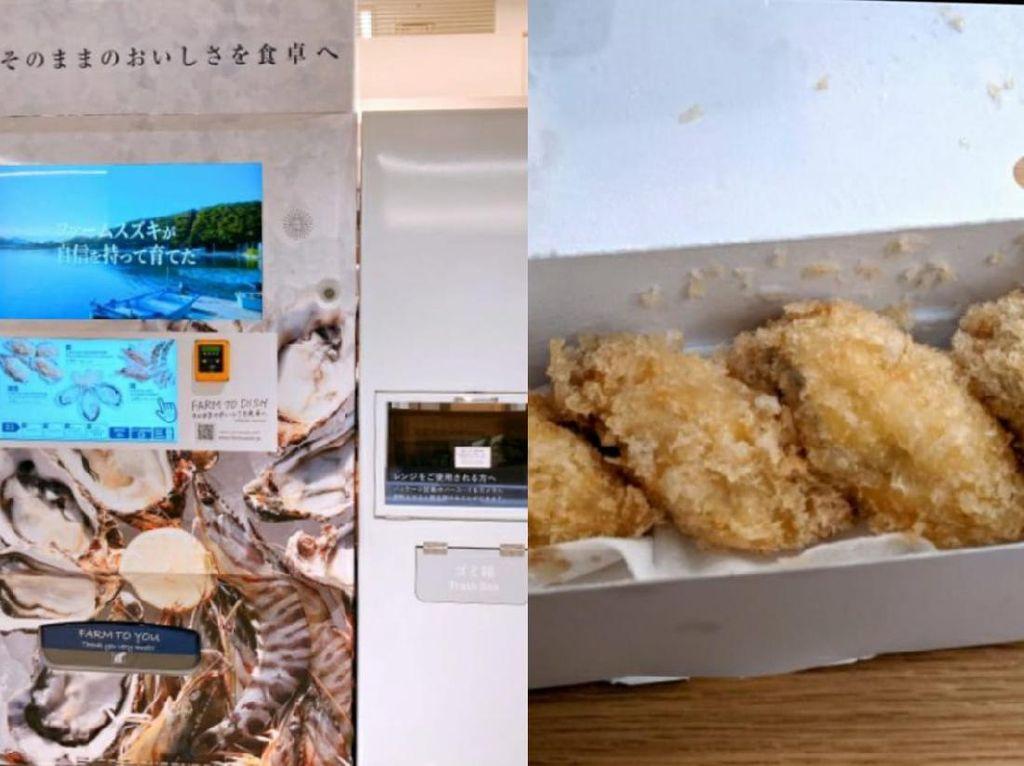 Keren! Di Jepang Bisa Beli Tiram Goreng Lewat Vending Machine