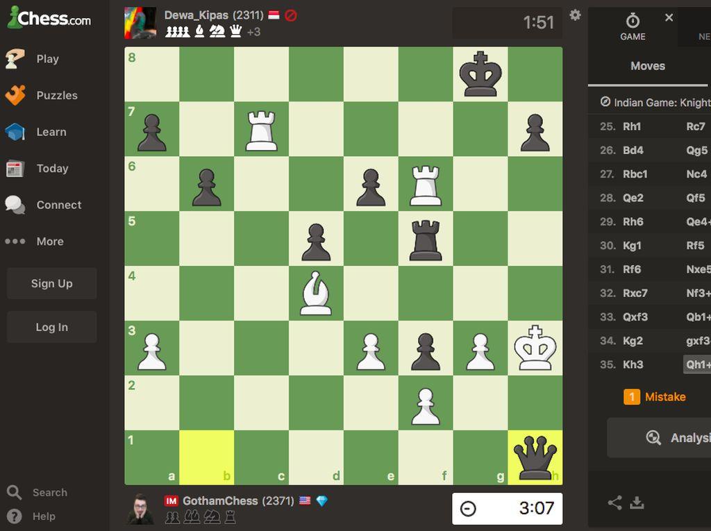 Bedah Statistik Dewa Kipas di Chess.com Sebelum Akun Ditutup