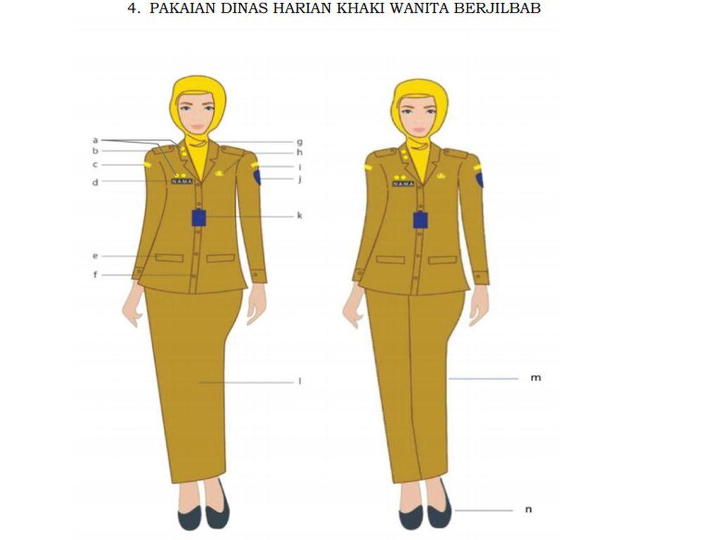 Viral PNS Barbie Pakai Seragam Mengkilap, Ini Aturan soal Pakaian Dinas