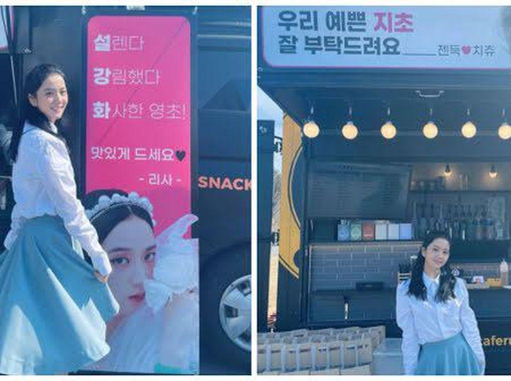 Sibuk Syuting Snowdrop, Jisoo dapat Kiriman Coffee Truck dari Personel BLACKPINK