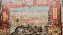 Menakjubkan! Lukisan Dinding Tertua di Pompeii Berhasil Direstorasi