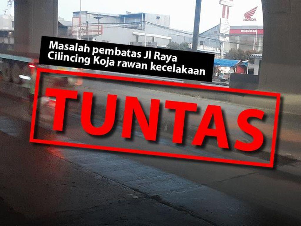 Before-After Pembatas Jl Cilincing: Dulu Rawan, Kini Aman