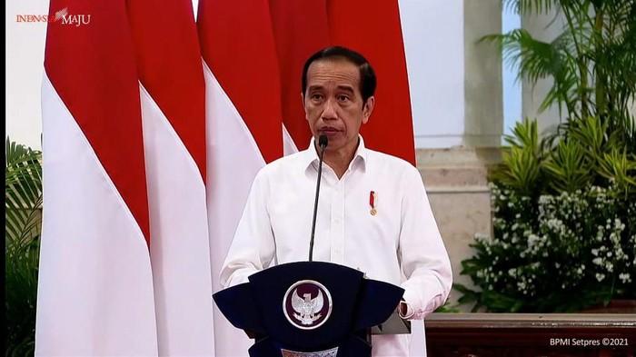 Presiden Jokowi dalam Rapat Koordinasi Nasional Penanggulangan Bencana Tahun 2021 (Foto: Tangkapan layar YouTube Setpres)