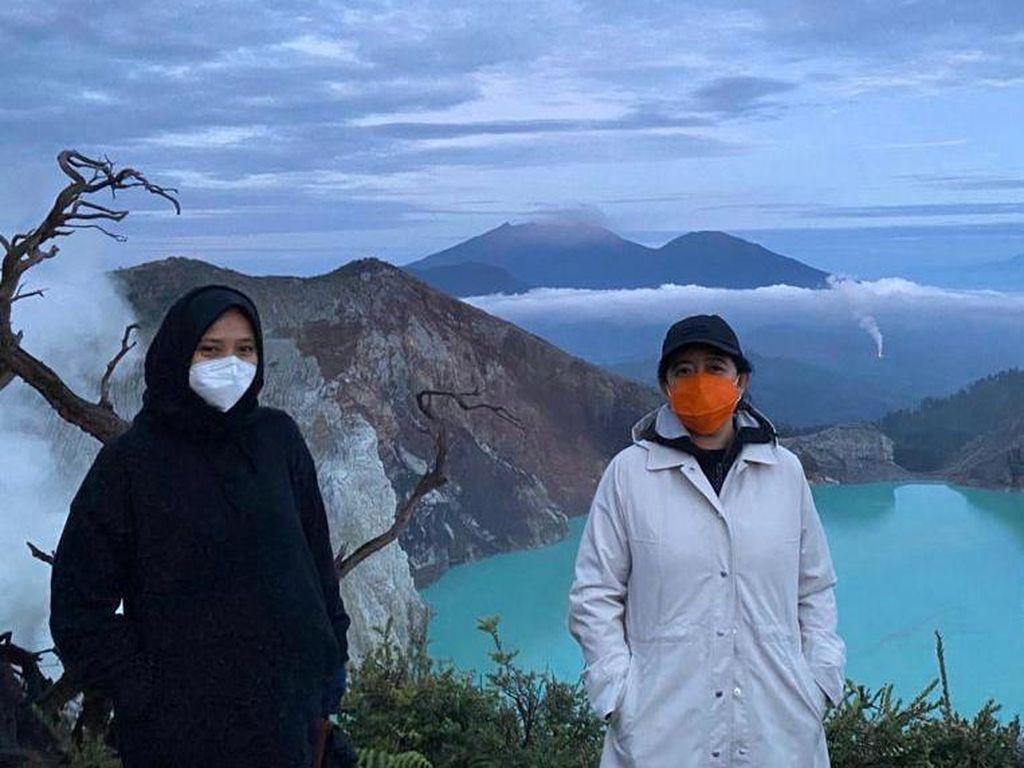 Puan Maharani Daki Gunung Ijen: Seru, Keren Banget