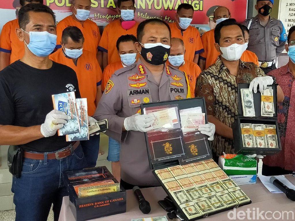 Polisi Tangkap Pemilik Cetakan Uang Asing Palsu Rp 4,5 T