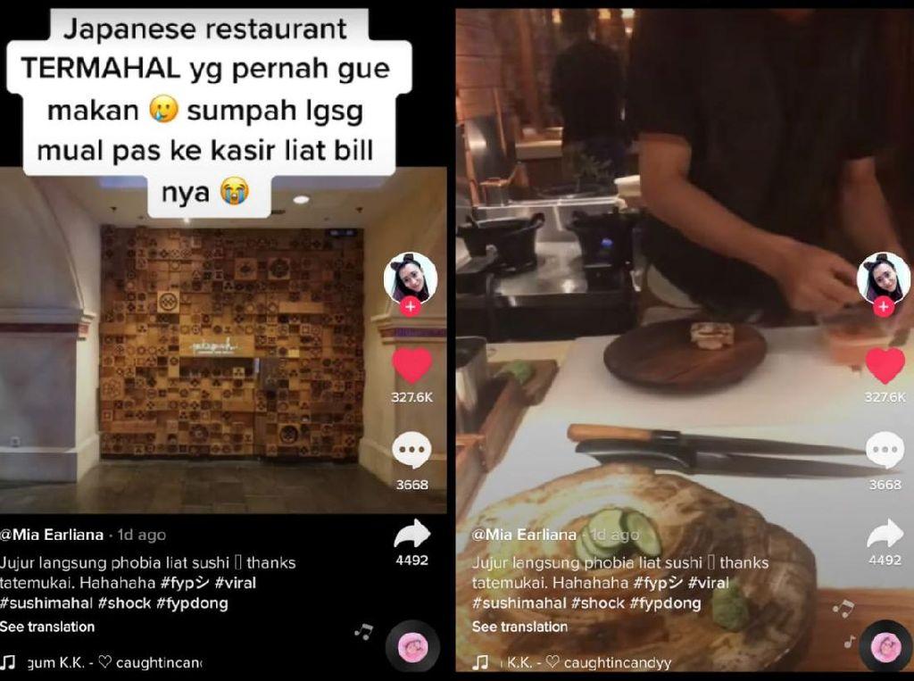 Viral Kisah Netizen Kaget Makan Sushi, Tagihannya Rp 4,9 Juta!