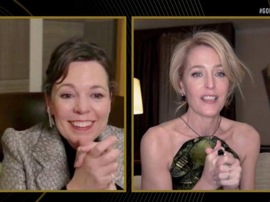 Viral Reaksi Olivia Colman Usai Kalah dari Emma Corrin di Golden Globe 2021