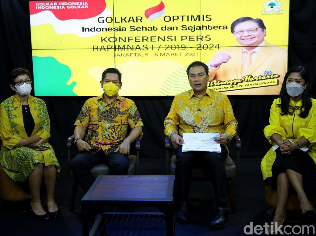 Golkar Bakal Bahas Persiapan Pilkada-Pilpres di Rapimnas 2021
