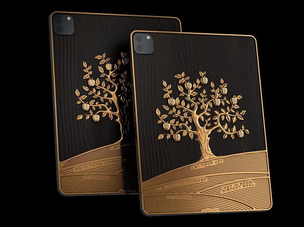 Edan! Ini Penampakan iPad Pro Berhias Emas 1 Kg Harga  Rp 2,6 Miliar