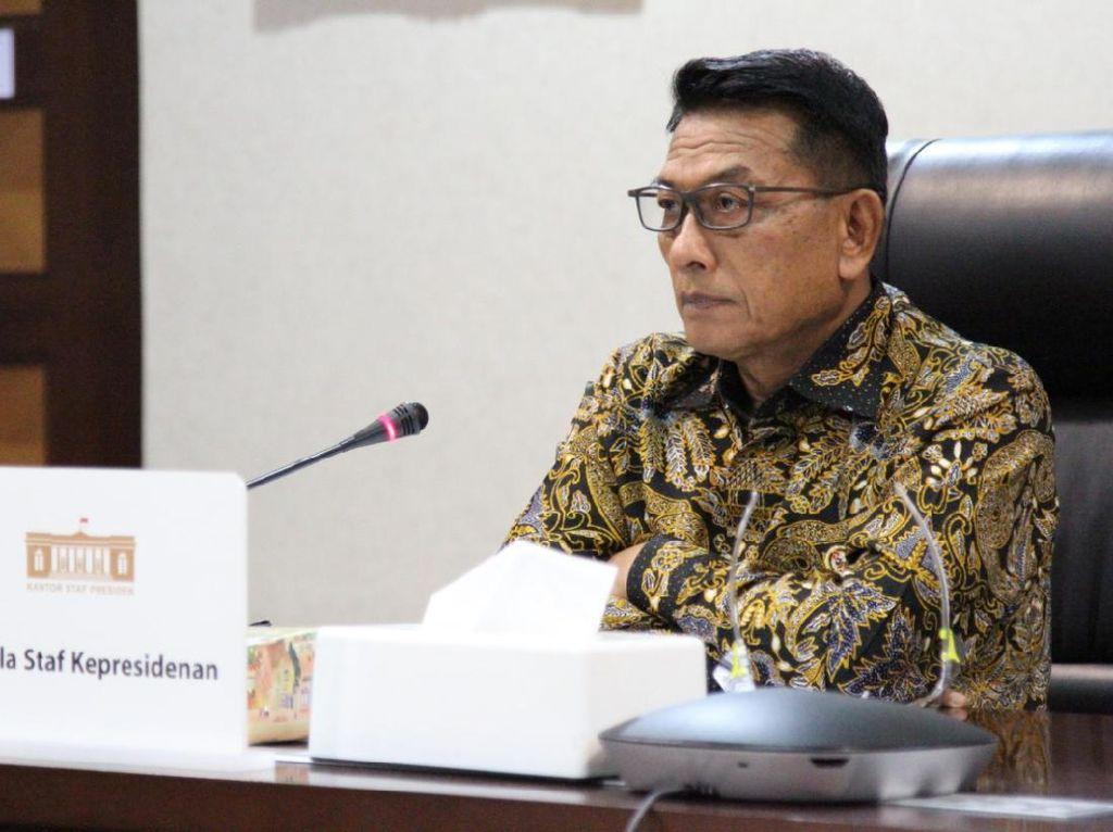 Rasio Sembuh COVID Capai 86,4%, Moeldoko Ungkap Pesan Jokowi di Rapat Kabinet