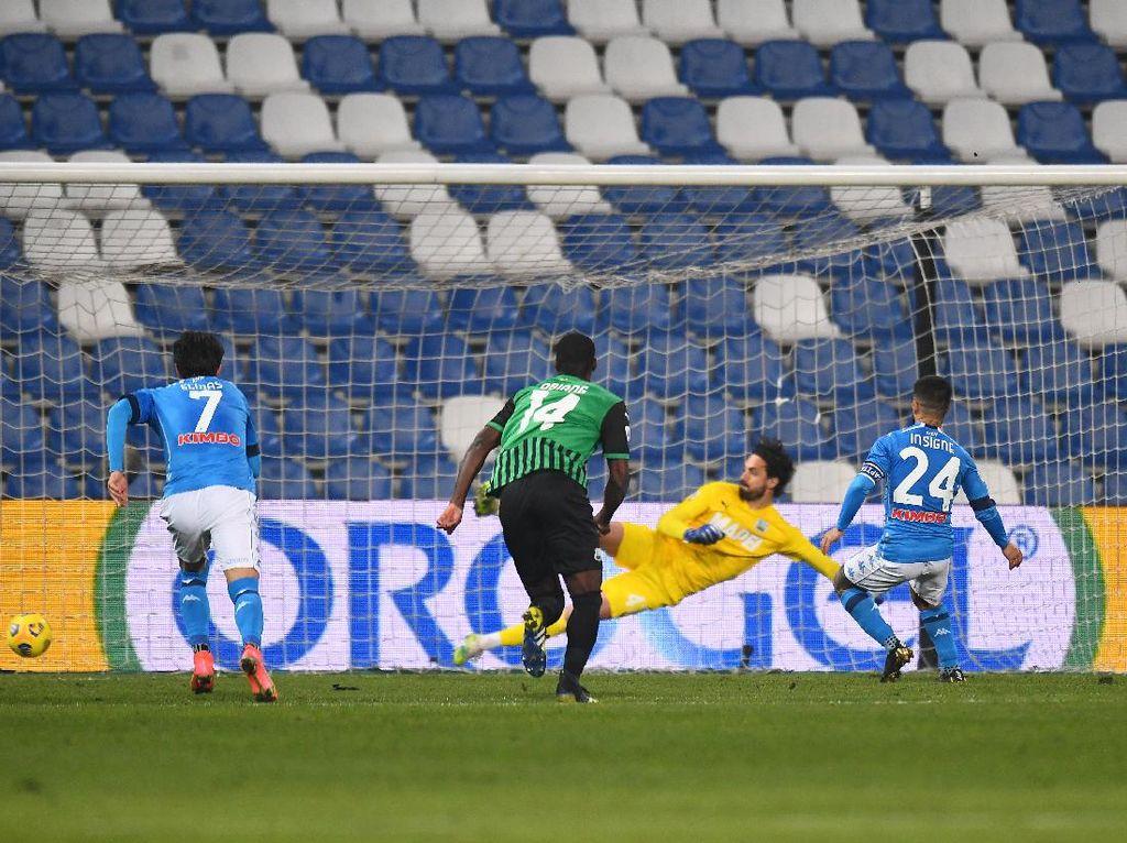 Saling Balas Gol, Sassuolo Vs Napoli Berakhir Imbang
