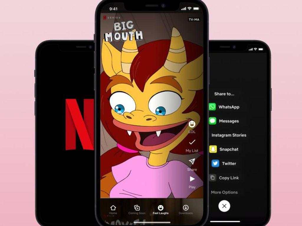 Netflix Tiru TikTok, Luncurkan Fast Laugh