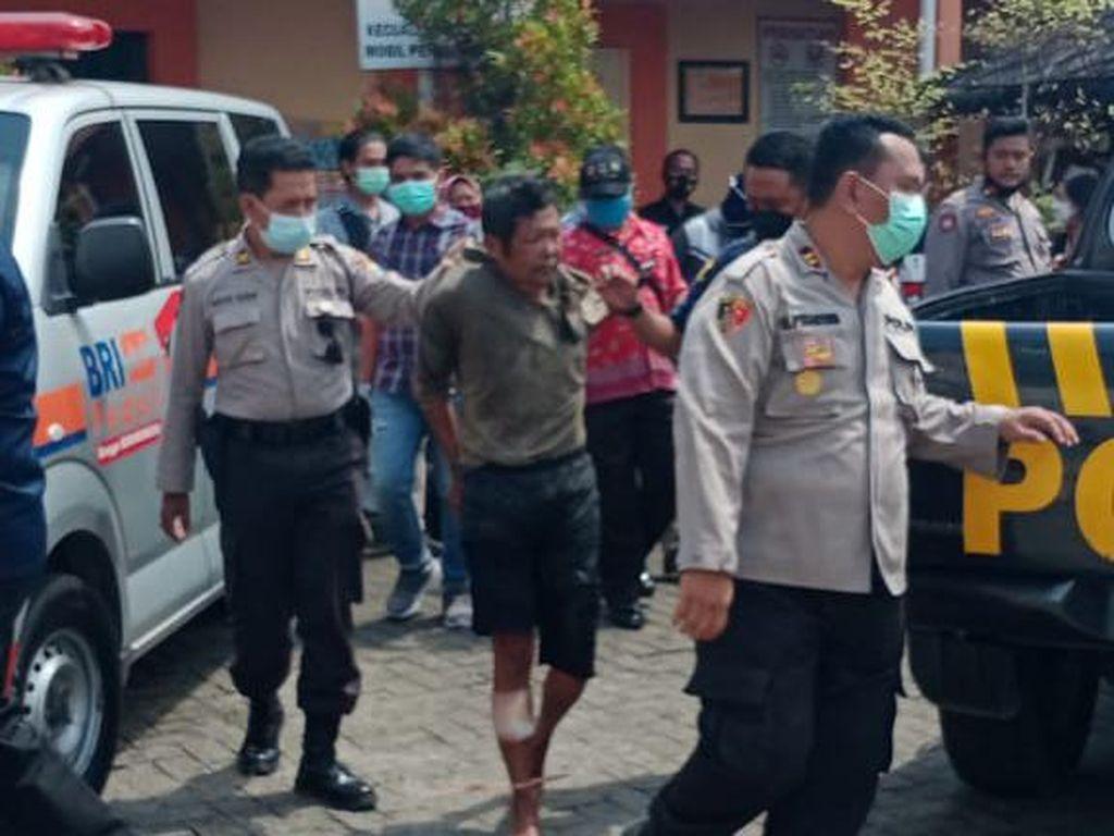 Polisi di Kediri Dibacok Saat Amankan Pelaku Penganiayaan