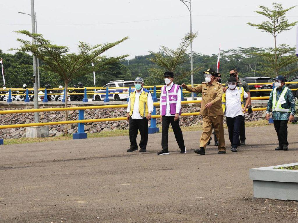 Diresmikan Jokowi, Bendungan Sindangheula Pengendali Banjir di Serang