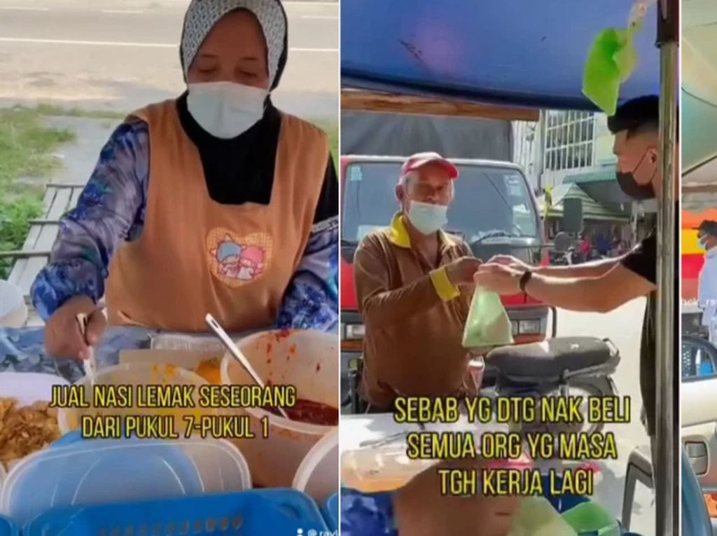 Salut! Fotografer Ini Borong Nasi Lemak untuk Dibagikan ke Orang-orang di Jalan