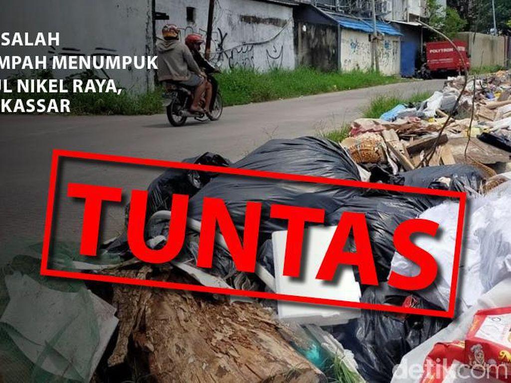 Before-After Sampah Menggunung di Jalan Nikel Raya Makassar