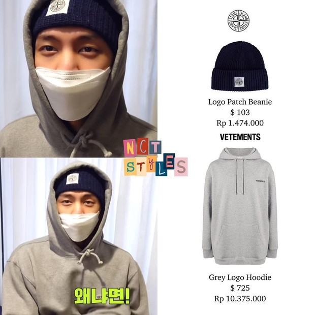 Harga outfit Johnny NCT