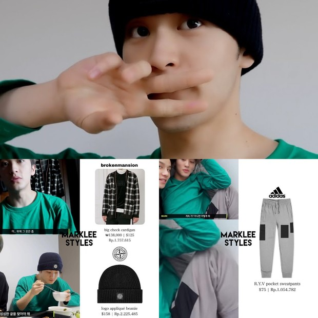 Harga outfit Mark NCT