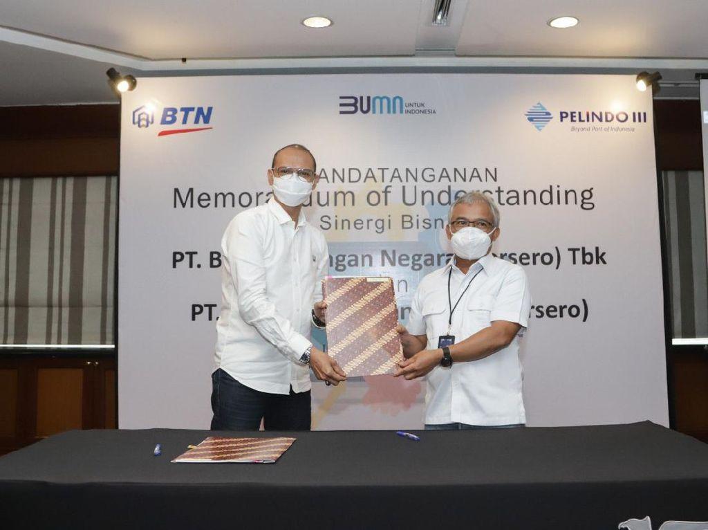 Pelindo III dan BTN Teken MoU Sediakan Layanan Transaksi Kepelabuhan