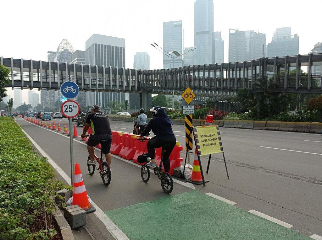 Polisi Sebut Pesepeda Keluar Jalur Bisa Ditindak, Ini Respons Pemprov DKI