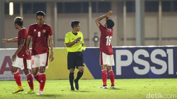 timnas indonesia u-23 tira persikabo laga uji coba kadek agung