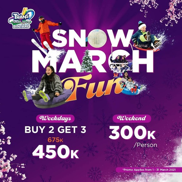 promo snow world tiket masuk Maret