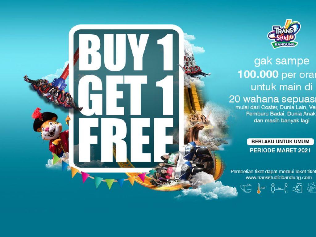 Promo Buy 1 Get 1 Trans Studio Bandung Berlanjut di Bulan Maret!