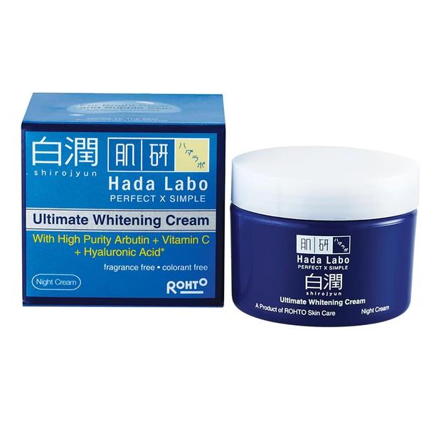 Hada Labo Shirojyun Ultimate Whitening Cream mencerahkan wajah di malam hari/watson.co.id