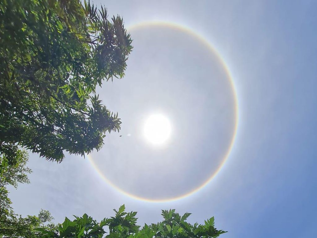 Video Fenomena Matahari Cincin Terjadi di Kota Parepare
