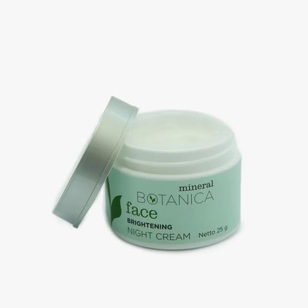 Mineral Botanica Brightening Night Cream mampu mencerahkan wajah/wastson.co.id