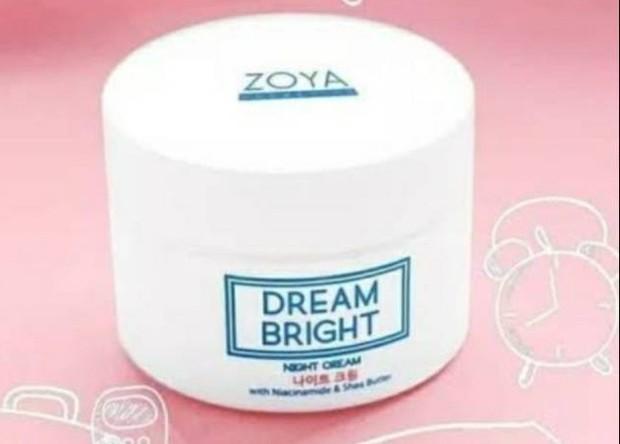Zoya Dream Bright Night Cream mencerahkan dan menutrisi kulit /shoope.co.id