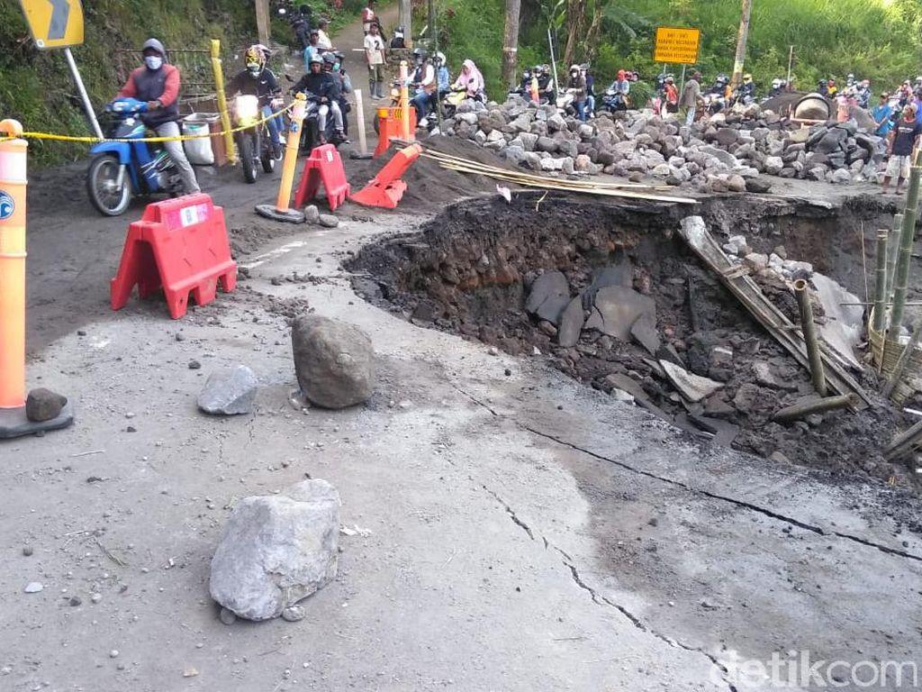 Ini Penyebab Bahu Jalan di Pujon Malang Ambles, Perbaikan Butuh 10 Hari