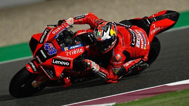 Jack Miller pada tes hari pertama MotoGP 2021 di Sirkuit Losail, Qatar, Sabtu (6/3).