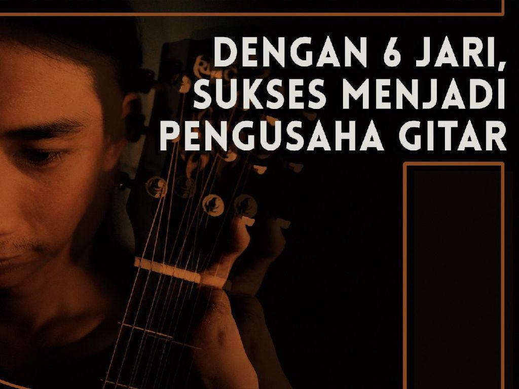 Kisah Mantan Pengamen Tanpa 4 Jari yang Sukses Menjadi Pengusaha Gitar