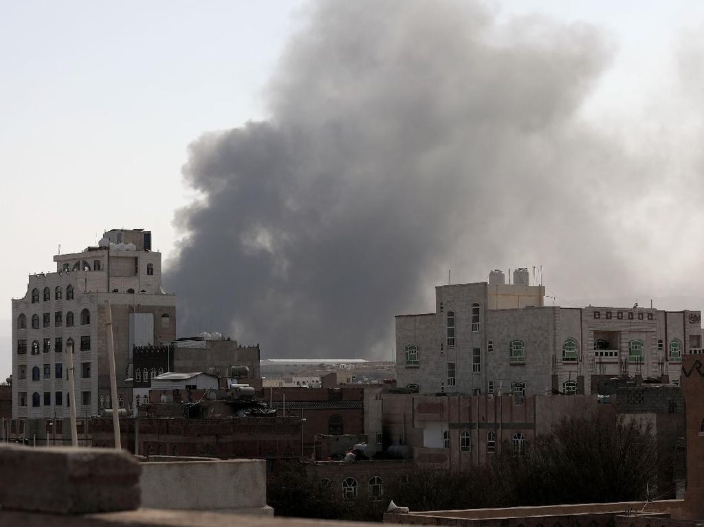Serangan Balasan Koalisi Saudi ke Houthi Lewat Yaman