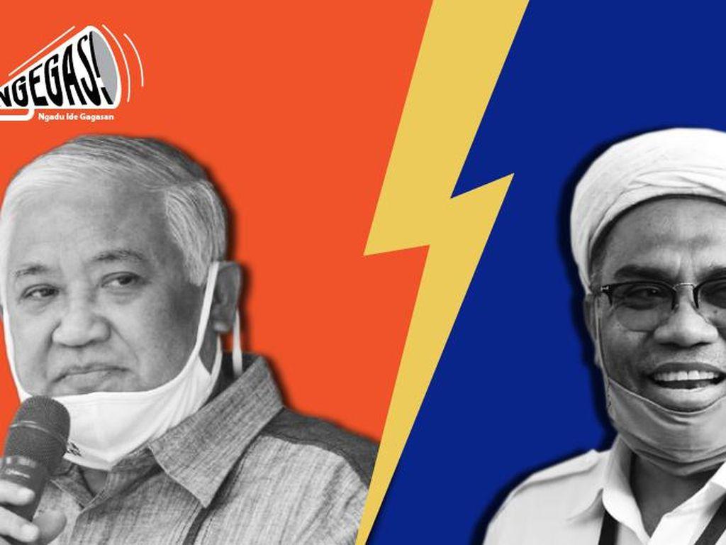 Din Syamsuddin vs Ngabalin Soal Keterlibatan Moeldoko di KLB PD
