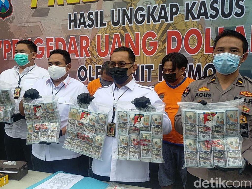 Polisi Gulung Sindikat Dolar Palsu Senilai Rp 21 M, Dua Pengedarnya Diamankan