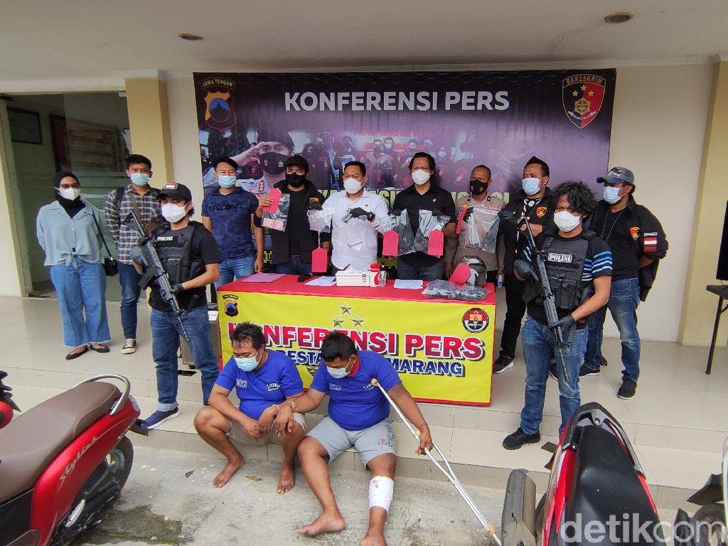 Maling Motor Beraksi di Minimarket Semarang, Korban Ditembak Airgun