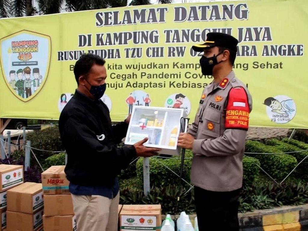 Strategi Polres Pelabuhan Priok Gempur COVID di RW Tangguh Jaya