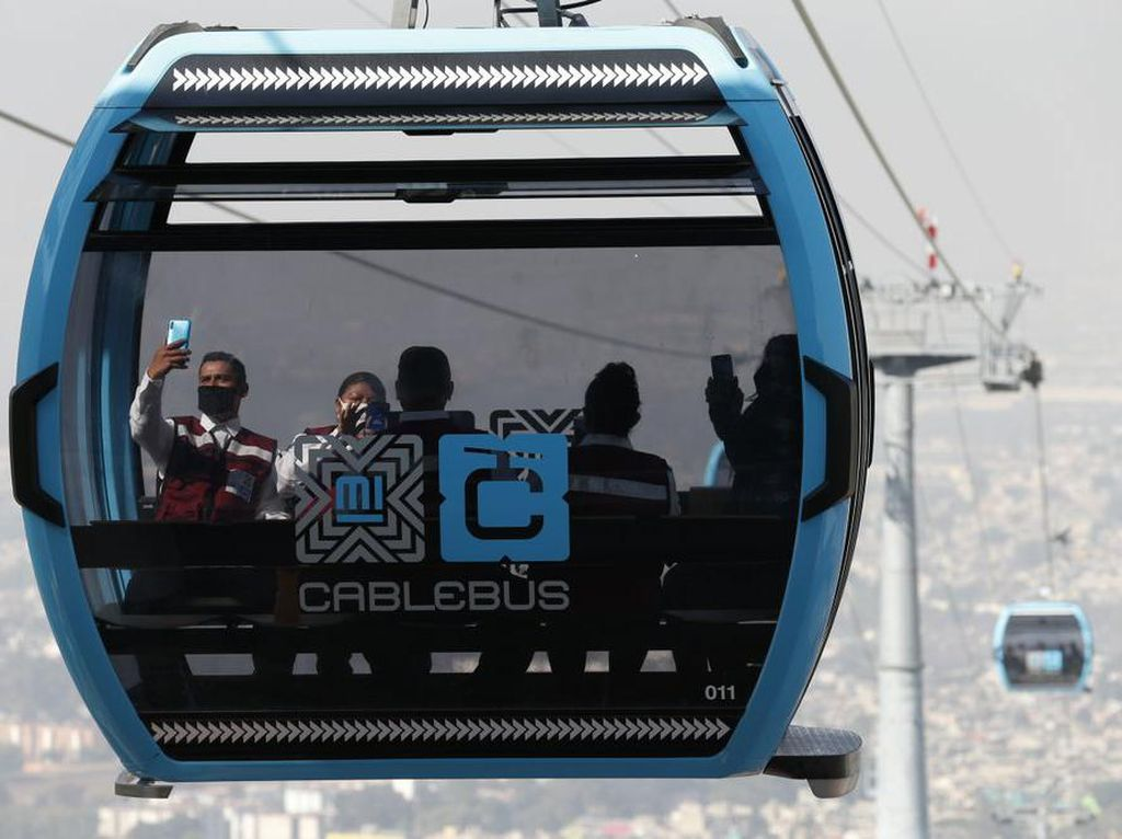 Foto: Cablebus, Kereta Gantung Cantik untuk Warga Miskin di Meksiko
