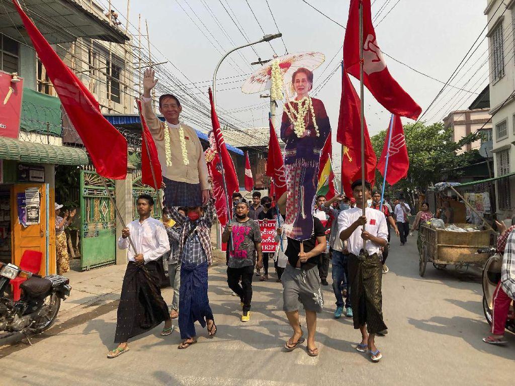 Myanmar Masih Panas, Demonstran Antikudeta Kembali Turun ke Jalan