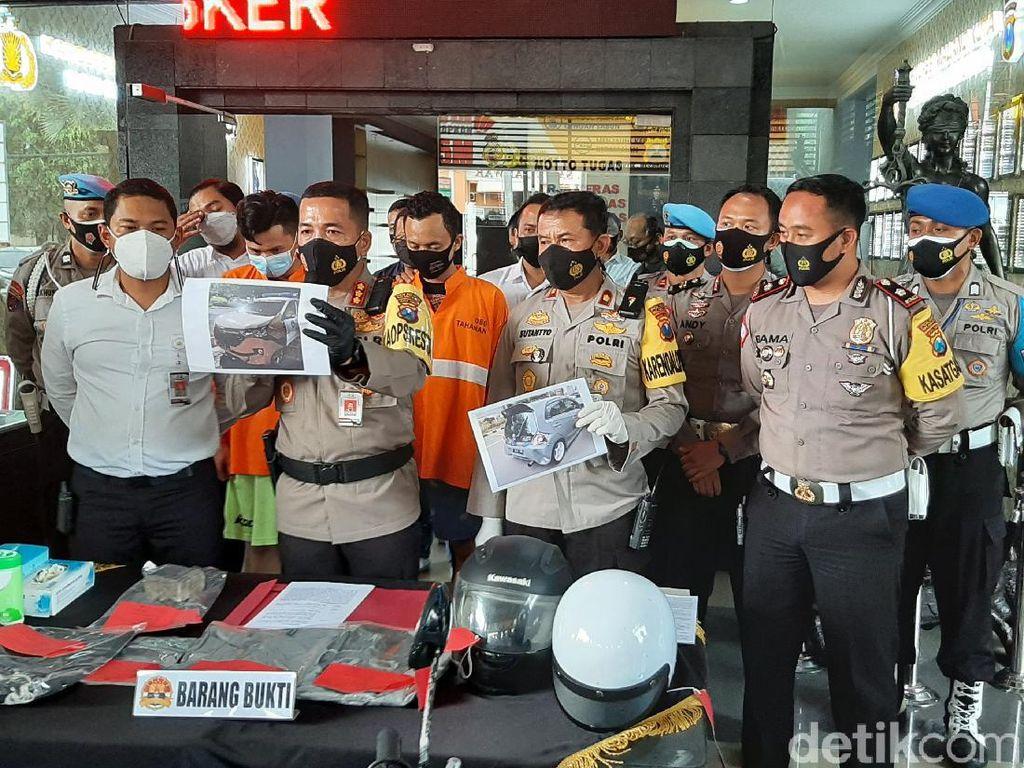 Ini Alasan Dua Pelaku Lempar Mobil Polisi Pakai Batako di Kota Malang